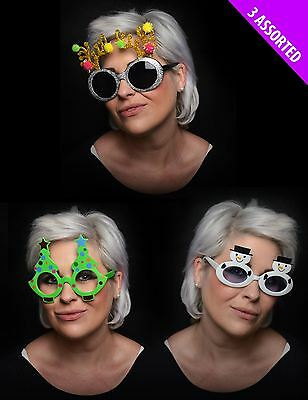 Novelty Christmas Xmas Funny Fun Fancy Dress Costume Party Specs Shades Glasses