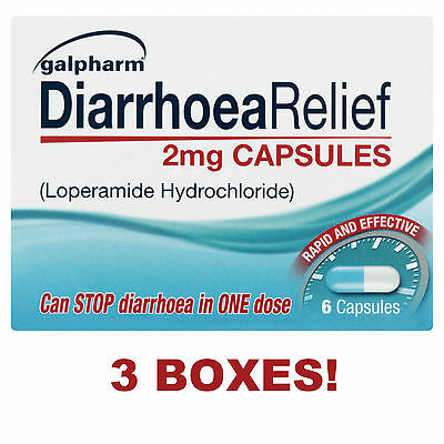DIARRHOEA RELIEF 2mg CAPSULES - LOPERAMIDE HYDROCHLORIDE TABLETS RAPID EFFECTIVE