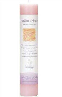 Crystal Journey MANIFEST A MIRACLE Herbal Magic Charged Reiki Pillar Candle, 7""