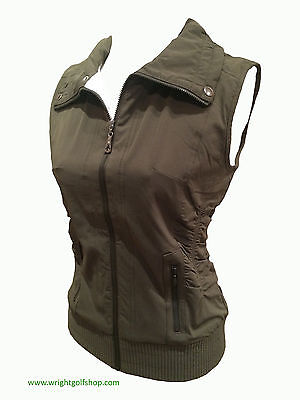 **SALE**  GREEN LAMB 'JAN' GILET - size 14 - colour KHAKI