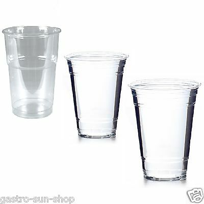 Clear Cups 50 Becher klar für Slush/ Obstsalat/ Smoothies/ gewölbte Domdeckel