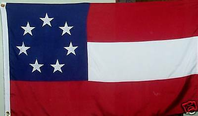 Heavy Duty Cotton First National Flag - Sewn Stars And Stripes - 1St Dixie