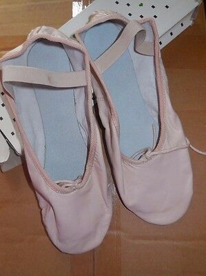 NEW/BOX MAINSTREET BALLET SHOES LEATHER CLASSIC PINK full sole Ladies sizes