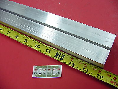 """2 Pieces 1"""" X 1"""" ALUMINUM 6061 SQUARE BAR 15"""" long T6511 Solid New Mill Stock"""