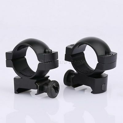 "1 Pair 25.4mm 1"" Low Profile Laser Scope Ring Fit 20mm Rail Rifle Hunting Goods"