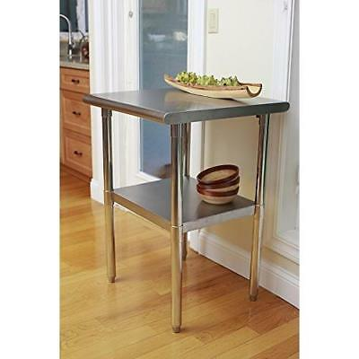 TRINITY EcoStorage NSF Stainless Steel Table, 24-Inch New