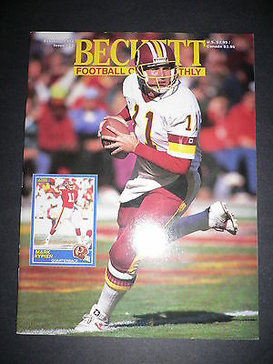 Beckett Football Monthly #23 Mark Rypian & Harvey Williams Beckett Feb 1992