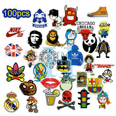 100pcs Graffiti ART Stickers Car Decal Vinyl Skate Snow Surf Board Laptop Decal