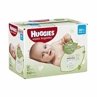 Huggies Natural Care Baby Wipes, Refill, 552 ct, Fragrance Free, New