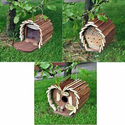 Wooden Garden Bee Insect Bird Squirrel Hotel House Home Feeder Feeding Station