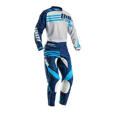 THOR Motocross Hose + Jersey 2016 - Phase Strands - cement-navy
