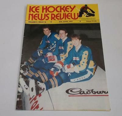 Ice Hockey News Review Magazine April 1987 Durham Wasps, Whitley Warriors