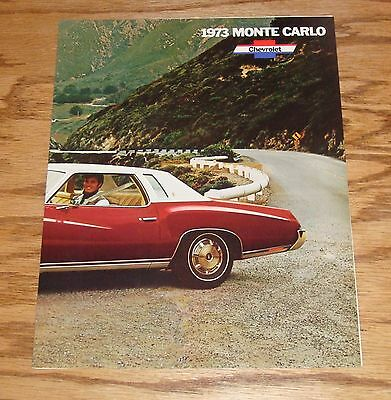 Original 1973 Chevrolet Monte Carlo Facts Features Sales Sheet Brochure 73 Chevy