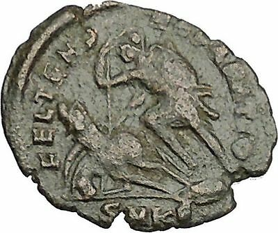Constantius Gallus 351AD Authentic Ancient Roman Coin Battle Horse man  i52603