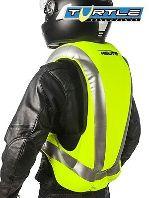 Gilet air bag jaune fluo HELITE Turtle Hi-Vis gonflable moto airbag inflatable