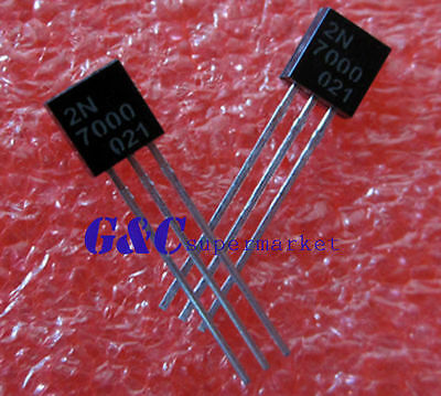 50pcs 2N7000 MOSFET N-CH 60V 200MA TO-92  NEW GOOD QUALITY TO1