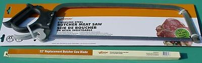 "22"" Stainless Steel Butcher Meat Saw With 22"" Stainless Steel Replacement Blade"
