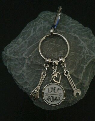 I Love My Mechanic Key Ring/Bag charm.