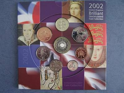 2002 Royal Mint  B UNC coin colection year set.