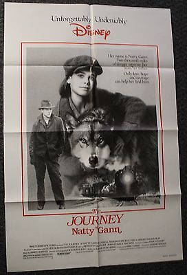 One Sheet Folded Movie Poster- Walt Disney Pictures - The Journey Of Natty Gunn