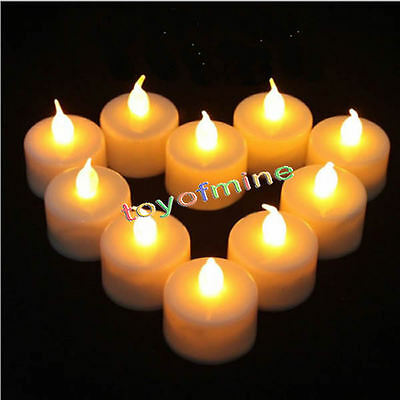 Flameless Candles Wind Proof Safe LED Tealight Candle Outdoor Warm White