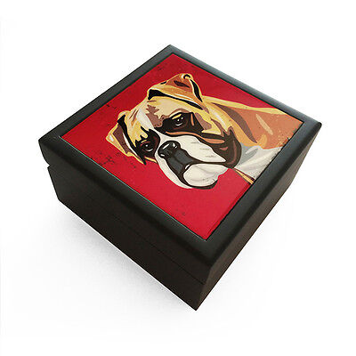 Boxer Black Jewelry Box