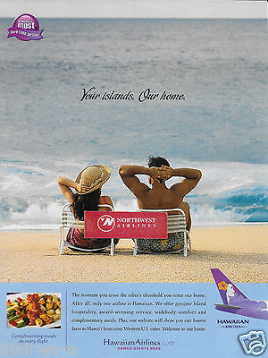 Hawaiian Airlines Your Islands.our Home Hawaii Starts Here 2004 Ad