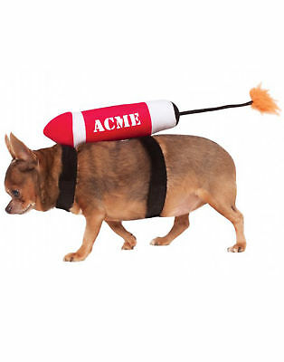 Acme Dynamite Rocket Ship Funny Halloween Pet Costume