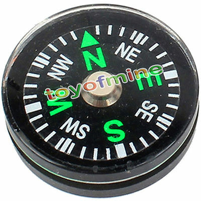 Mini Compass 20mm Button Scouts Hiking Camping Survival Navigation