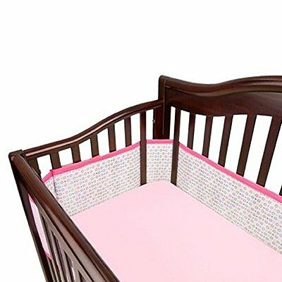 Breathable Baby Mesh Crib Liner - Geo Girls New
