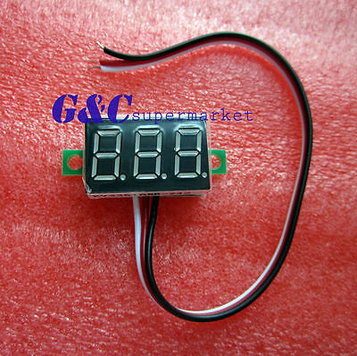 three-wire 0.36` LED DC Digital Voltmeter Panel Meter  0-32V  RED COLOR