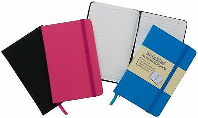 Notables Quality A6 Lined Ruled, Notebook With Leather, Effect Cover 96 Page