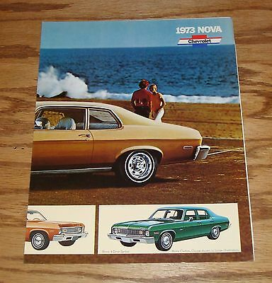 Original 1973 Chevrolet Nova Facts Features Sales Sheet Brochure 73 Chevy