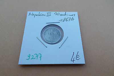 Piece 20 Centimes Ceres 1867A - Old French Coin - Ref9277