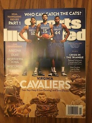 March 16, 2015 Sports Illustrated University of Kentucky Wildcats Final Four UVA