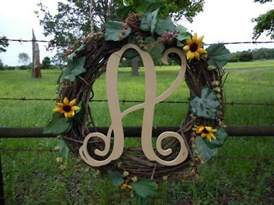 """Wooden Letters Large 24"""" X 1/4 Monogram Font Wall Hanging"""
