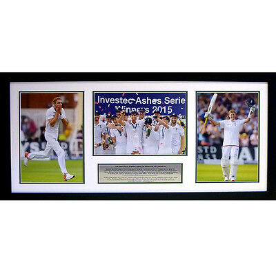 England 2015 Ashes – Special Edition triple photo Presentation - Broad & Root