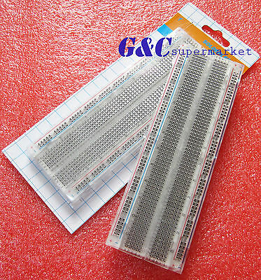 MB-102 Transparent Material 830Point Solderless PCB Bread Board