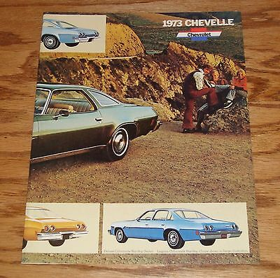 Original 1973 Chevrolet Chevelle Facts Features Sales Sheet Brochure 73 Chevy