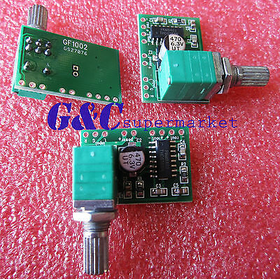 2PCS PAM8403 5V DC Audio Amplifier Board 2 Channel 2*3W Volume Control USB Power