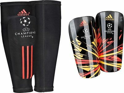 adidas Performance UCL Pro Lite Shin Guards With Sleeve Pads Football Hockey NEW