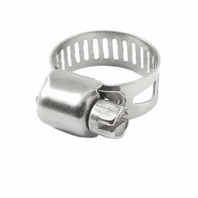 Water Gas Pipe Worm Drive Hose Clamp 13-19mm Adjustable Hoop 5 Pcs