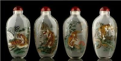 Wonderful Inside Painting China Tiger Glass Snuff Bottle