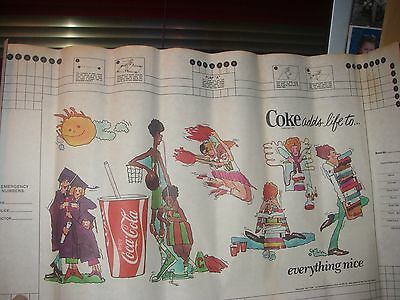 Vintage Coca Cola Coke Paper School Book Cover Advertising