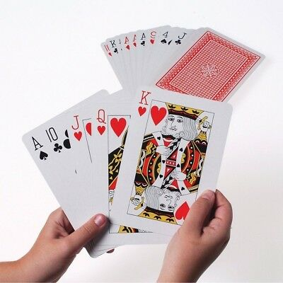 JUMBO Plastic Coated Large 54 Playing Cards Deck Poker Game