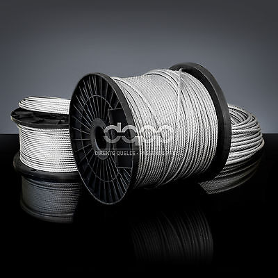 [bulk] 2000 ft x 1/8 inch STAINLESS STEEL WIRE ROPE - 7x19 (3mm x ~609m)