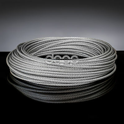 [bulk] 500 ft x 1/4 inch STAINLESS STEEL WIRE ROPE - 7x19 (8mm x ~106m)
