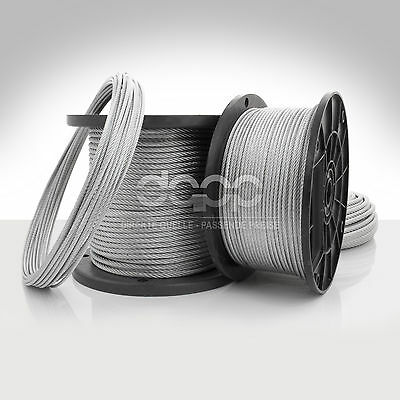 [bulk] 350 ft x 5/16 inch STAINLESS STEEL WIRE ROPE - 7x19 - SEIL LINE CORDAGE