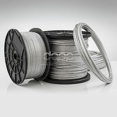 [bulk] 2000 ft x 1/8 inch STAINLESS STEEL WIRE ROPE - 7x7 (3mm x ~609m)