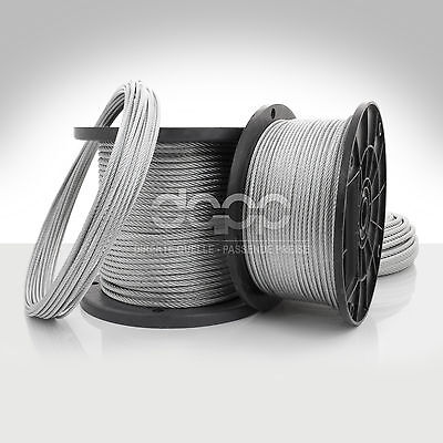 [bulk] 500 ft x 1/4 inch STAINLESS STEEL WIRE ROPE - 7x7 (6mm x ~152m)